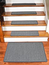Dean Non-Slip Tape Free Pet Friendly Stair Gripper Natural Fiber Sisal Carpet Stair Treads - Island Gray 29
