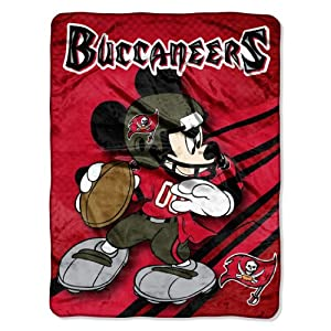 NFL Tampa Bay Buccaneers Mickey Mouse Ultra Plush Micro Super Soft Raschel Throw... by Northwest