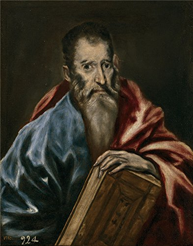'El Greco (Workshop) Un Apostol 1608 14 ' Oil Painting, 10 X 13 Inch / 25 X 32 Cm ,printed On Perfect Effect Canvas ,this Beautiful Art Decorative Canvas Prints Is Perfectly Suitalbe For Gift For Relatives And Home Gallery Art And Gifts (Lotus Water Treatment System compare prices)