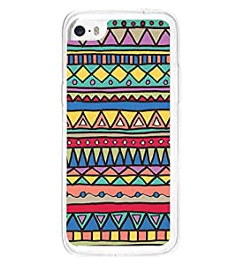 Colourful Aztec Print 2D Hard Polycarbonate Designer Back Case Cover for Apple iPhone 5C