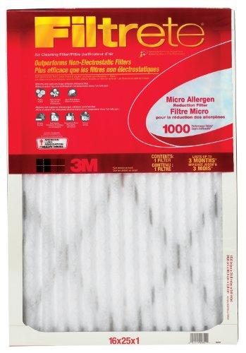 3M Filtrete 6-Pack Micro Allergen Reduction Filters, 1000 MERV, 16 x 25 x 1