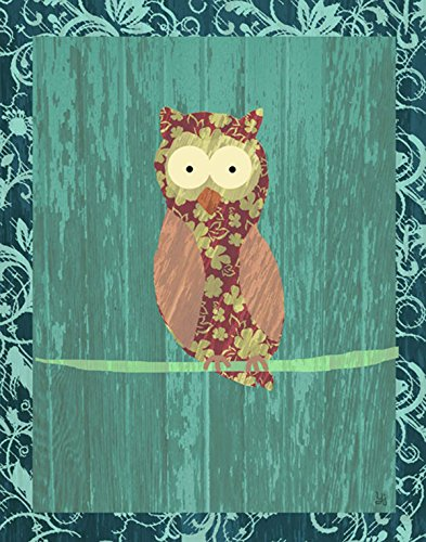 Green Leaf Art Owl II Canvas Art, Small