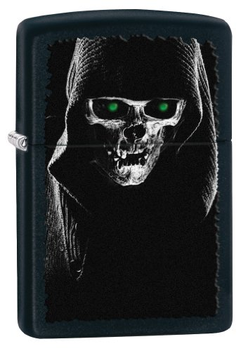 Zippo Hooded Skull Pocket Lighter