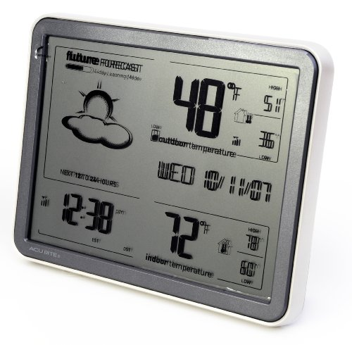Chaney Instruments Acu-Rite 75077 Wireless Weather Forecaster with Remote Sensor and Atomic Clock
