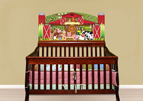Mona Melisa Designs Baby Crib Mural, Farm