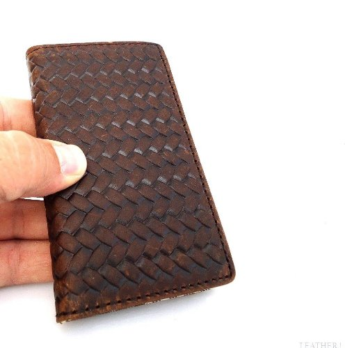 Great Sale Genuine Natural Leather Handmade Case for Apple Iphone 5 Book Cover Wallet Id Stand Holder Creditcards Black Free Shipping ! Il