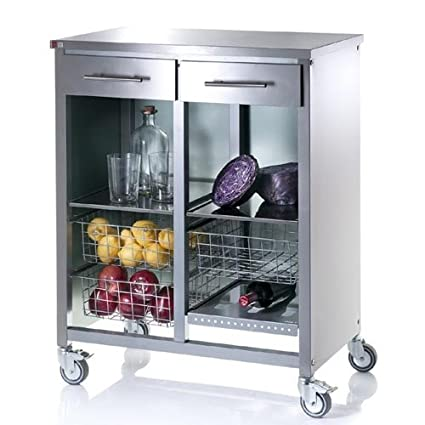 Don Hierro Stainless Steel Double Kitchen Trolley