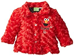 Sesame St Baby Girls\' 1 Piece Elmo With Hearts Jacket, Red, 18 Months