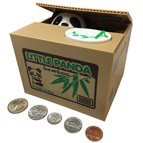 SPARK-TOYS-GAMES-TM-Piggy-Bank-Cute-Panda-Bear-Steals-Coins-like-Magic-Hours-of-Fun-a-Great-Gift-for-Kids