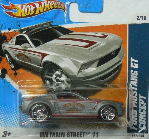 Hot Wheels HW Main Street '11 2/10 Ford Mustang GT Concept Silver on Short Card by Hot Wheels