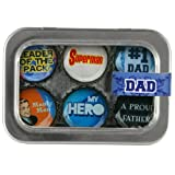 Dad Bottle Cap 6 pc Magnet Set w/ Case