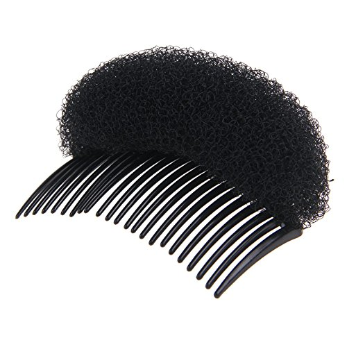Hot New Hair Styling Stick Bun Maker Braid Tool Hair Accessories Magic Comb Plate Plastic Resin Black (Black)