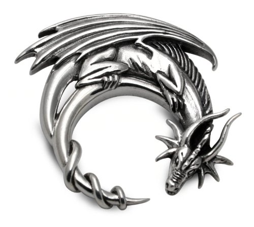 Sterling Silver Moon Dragon By Fantasy Artist Jessica Galbreth