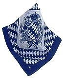 #4: Rauten-Nickituch mit bayrischem Wappen, ideal für das Oktoberfest