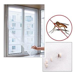Tenflyer 200cm x 150cm DIY Mosquitera cortina de insectos Mosca Mosquito Ventana Bug Mesh Pantalla