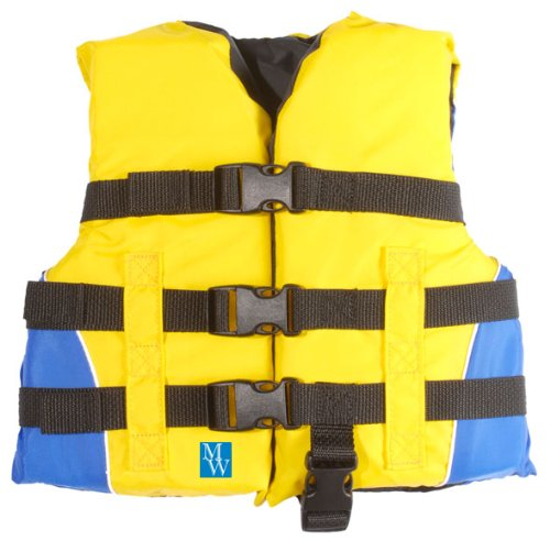 Mw Child 3 Buckle Life Jacket Vest Yellow Blue Sporting