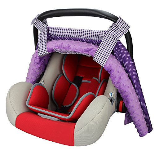 Car Seat Covers for Girls by Rench Babies-Multi-use Baby Car Seat Canopy, Stroller Blanket, Shopping Cart Cover, Ultra-Soft, Baby Gifts, Fits All Infant Car Seat Brands. (Infant Car Seat Cover Girl compare prices)