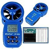 Anemometer HP-866A mit Flügelrad, USB, Temperatur, Rel. Luftfeuchte, Durchflussmessung