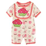 Cute Baby Onesies Infant Creeping Bodysuit Toddlers Climbing Romper Rose CAKE
