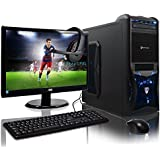 ADMI GAMING PC With Monitor, Headset, Keyboard & Mouse - AMD A6-6400k Mid Spec Blue LED, Home, Family, Multimedia Desktop Gaming Computer with Platinum Warranty: Fast Dual Core 4.1GHz CPU with Radeon HD 8470D Graphics, Gigabyte F2A78M-HD2 HDMI Motherboard with AMD Triple Monitor Support, 8GB 1600MHz RAM, 1TB Hard Drive Storage, 150mbps WiFi Included, Vantage Blue LED Case - with Windows 7 (Free Upgrade to Windows 10) - Including Headset, Keyboard, Mouse & 21.5 Inch Monitor