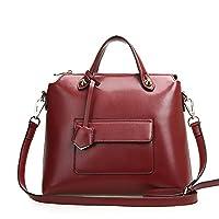 Fineplus Womens Retro Split Cow Leather Fashion Shoulder Handbags
