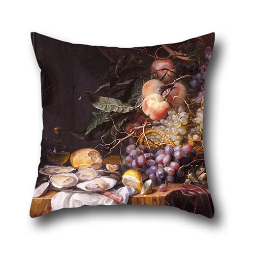 The Oil Painting Walscapelle, Jacob Van - Still Life With Fruit And Oysters Pillow Shams Of ,16 X 16 Inch / 40 By 40 Cm Decoration,gift For Pub,play Room,bf,deck Chair,living Room,girls (both Sides)