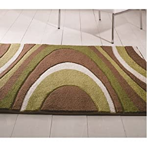 3 Sizes Available - Orleans - Honesty Brown/Green - Good Quality Rug from Flair Rugs