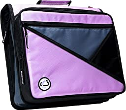 Case-it Universal 2-Inch 3-Ring Zipper Binder, Holds 13 Inch Laptop, Lavender, LT-007-LAV