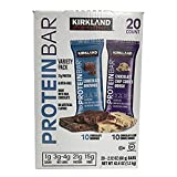 Kirkland | Signature Variety Protein Bars 20 count | 21G Of Protein, 4G Of Carbs & 1G Of Sugar | Chocolate Brownie and Chocolate Chip Cookie Dough (20 Bars) (Tamaño: 20 Count)
