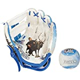 Franklin Sports Disney Frozen Air Tech Glove and Ball Set, 8.5-Inch, White/Blue