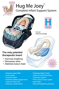HUG ME JOEY PREEMIE AND SMALL INFANT CAR SEAT SUPPORT SYSTEM, Dove Gray