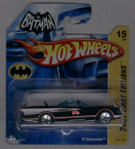 Hot Wheels SHORT CARD 2007 First Edition 015/156 Tv Batmobile 15 of 36 1:64 Scale