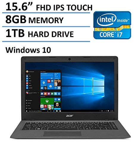 2016 Newest Acer Aspire 15.6-inch Premium FHD IPS Touchscreen Laptop, 6th Gen Intel i7-6500U Skylake Processor up to 3.1GHz, 8GB DDR3, 1TB HDD, DVD, HDMI, 802.11AC Wifi, Backlit Keyboard, Windows 10