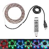 Lemonbest 2m 6.5ft 120leds Resin Flexible Color Changing USB LED Strip Lights RGB 3528smd 5V Waterproof