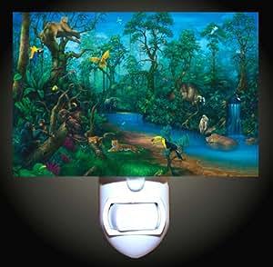 Rainforest Splendor Decorative Night Light
