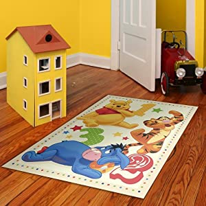 disney winnie pooh tapis b b s pu riculture. Black Bedroom Furniture Sets. Home Design Ideas