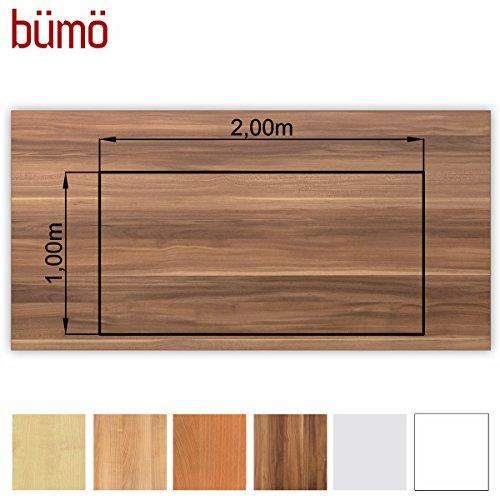Bm-stabile-Tischplatte-25-cm-stark-DIY-Schreibtischplatte-aus-Holz-Brotischplatte-belastbar-mit-120-kg-Spanholzplatte-in-vielen-Formen-Dekoren-Platte-fr-Bro-Tisch-mehr-Rechteck-200-x-100-cm-Zwetschge