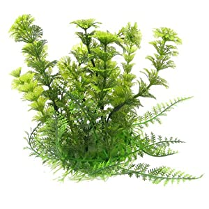"Fish Tank Aquarium Green Plastic Grass Plants Decoration 6.7"" High"