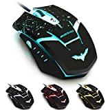 HAVIT® HV-MS709 Programmable High Precision Wired Gaming Mouse (Bound to Specific Games) with 4000 DPI, 6 Programmable Buttons, Omron Micro Switches, 5 stored profiles for PC - AVAGO ADNS-3050 Chipset (New Years Day Special)