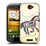 Head Case Designs Horse Colourful Animal Scribbles Protective Snap-on Hard Back Case Cover for HTC One S