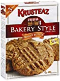 Krusteaz Cookie Mix, Peanut Butter, 17.5-Ounce Boxes (Pack of 6)