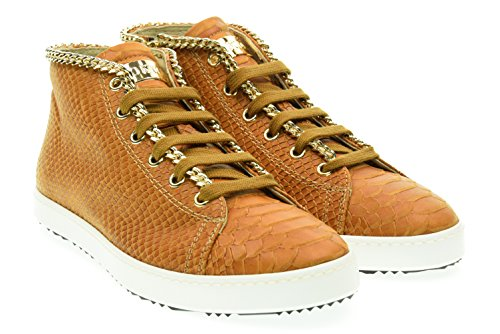 STOKTON donna sneakers alte 515-D Cuoio 38 Cuoio