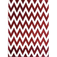 Chevron Area Rug # S 260 Red