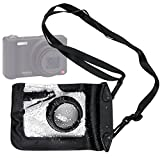 DURAGADGET Compact Camera Case in Black for Pentax Optio RZ10, RZ18, S1, S7, VS20, W90, WG-1 & WS80 - Premium Quality, Water-Resistant Pouch with Zoom Lens Compartment, Cross-Body Strap & Air-Locked Seals
