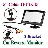 Kfz-Auto-Monitor-BW-127-cm-TFT-LCD-Security-Digital-Monitor-mit-zwei-Klammern-Sicht-und-zwei-Videoeingang-hohe-Auflsung-Bild-farbiges-LCD-Backlight-Display-fr-Rckfahr-KameraAuto-DVDVCDGPSandere-Videoz