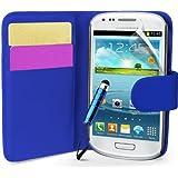 Generic 5055481625353 Buchstil Klapp Lederoptik Hülle für Samsung Galaxy S3 Mini I8190 mit Karteneinschub/Magnetverschluß/Schutzfolie/Reinigungstuch/Mini Eingabestift