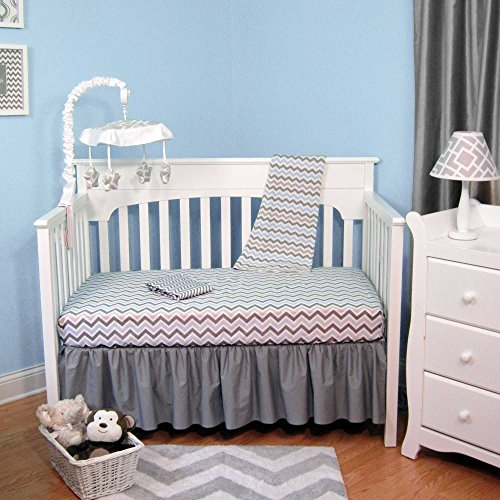 Gray Chevron Baby Bedding 4203 front