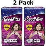 GoodNites Underwear, Girls, L-XL (60-125+ Lbs), Jumbo, 12 Ct (2 Pack)