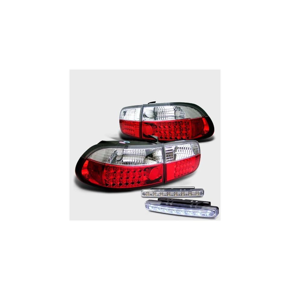 Eautolights 92 95 Honda Civic 2 4 Door Led Tail Lights
