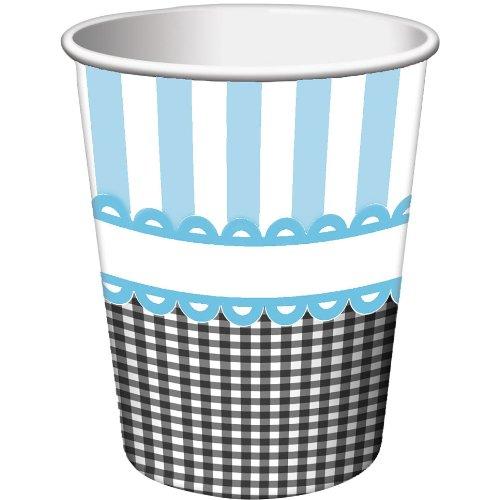 Blue Sweet Baby Feet 9oz Cups